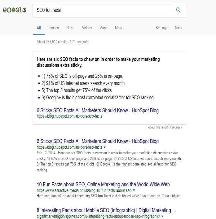 Fun Facts SEO Google