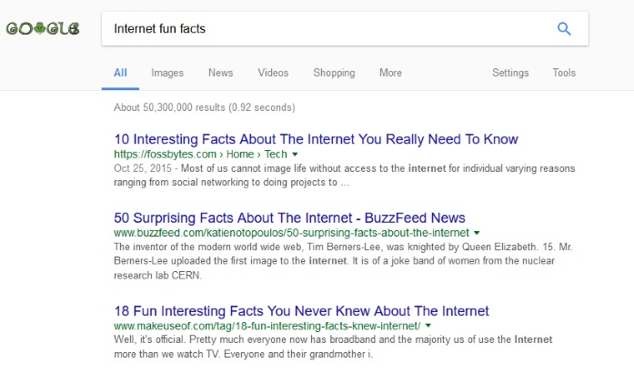Internet Fun Facts