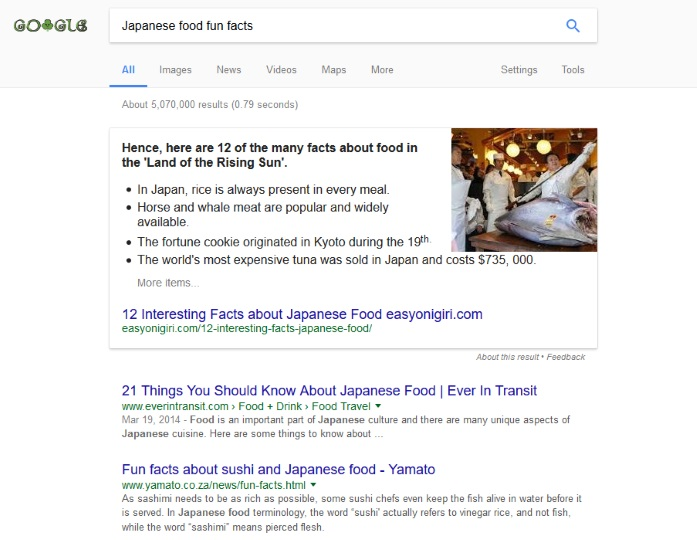 Fun facts about seo new horizons 123 for Asian cuisine information